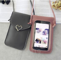 Luxury Pocket card Wallet Purse Shoulder Bag Pouch+Strap PU Leather Phone Case