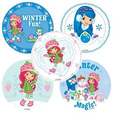 Strawberry Shortcake Stickers x 5 - Birthday Party Supplies - Winter Stickers