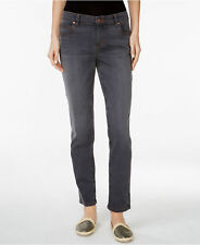 EILEEN FISHER 2 Boyfriend Skinny Jean Organic Cotton Stretch Asphalt Gray Cuff
