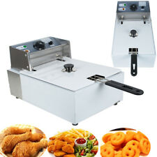 Professional 5.5L Electric Countertop Deep Fryer Commercial Basket French Fry