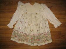 Vintage Kate Greenaway Size 5/6 Beatrix Potter Peter Rabbit Smocked Easter Dress