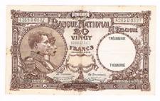 "20 Frank/Franc    type  ""1919""  Nationale Reeks   14.01.1928     Morin 26b"
