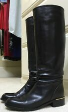 SUDINI Black Leather Slouch Boots 7N EUC
