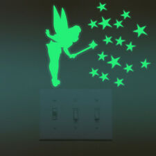 Campanilla estrellas fluorescentes pegatina luminosa noche hada Glow in the dark
