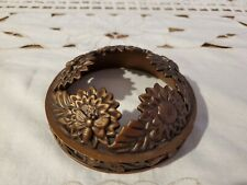 Yankee Candle JAR LID TOPPER Illumalid ANTIQUE BRONZE TONE SUNFLOWERS BEES LEAVE