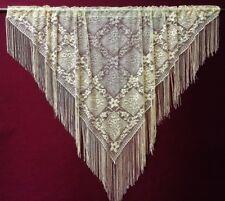 "Heritage Lace Antique Gold  56"" x 36""  Victorian Style Fringe Valance"