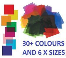 Heat Resistant Colour Transparent Acetate Gel Sheet Crafts Plastic Film Lighting