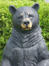 "BLACK BEAR STATUE INDOOR OUTDOOR LOG CABIN LODGE DECOR 31""TALL HOUSE HOME"