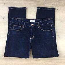 JAG Blue Denim Stretch Straight Capri Women's Jeans Size 12 W31 L25 (VV7)