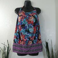 Swimsuits For All Womens Tankini Top Floral Tropical Sz 16 SwimsuitsForAll