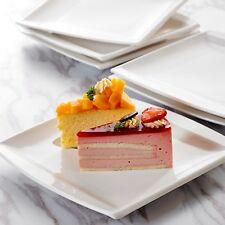 "Malacasa BLANCE 12-Piece 8.25"" Square Porcelain Dessert Plate Home Kitchen Cafe"