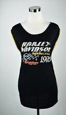 Harley Davidson Sleeveless Side Zipper Harley Davidson Biker Girl Womens HD Sz L