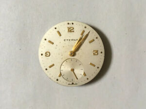 Vintage Eterna Gold Face Military Watch Swiss Movement Spares Repair