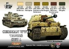 German WWII Tanks #1 Camouflage Acrylic Paint Set 6 22ml Bottles Lifecolor  NEW