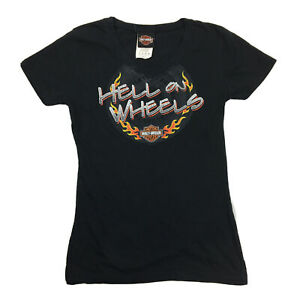 Harley Davidson Womens Short Sleeve T-Shirt Hell On Wheels Tennessee Size XS