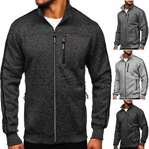Sweatshirt Pullover Sweatjacke Pulli Stehkragen Sport Classic Herren BOLF Motiv