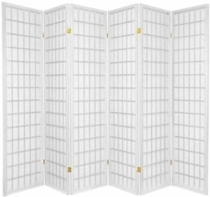 3,4,5,6,8,10 Panel Japanese Oriental Style Shoji Room Divider White Color