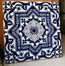 Portuguese old blue intricate and beautiful,decorative CERAMIC TILE