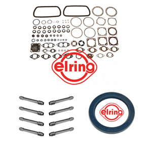 VW Beetle, Campervan Engine Gasket Kit With Main Oil Seal And 8 Pushrod Tubes