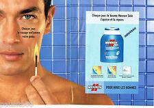 PUBLICITE ADVERTISING 085  2003  les soins MENNEN pour homme ( 2 pages) 2