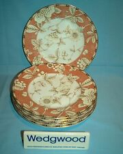 "Wedgwood Frances Peach 6 x 8"" Accent Dessert Plates - VGC - Free UK Post - 1st Q"