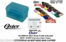 OSTER A5 STAINLESS STEEL ATTACHMENT GUIDE COMB &BLADE SET*Fit Most Andis Clipper