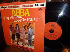 """MAXI 12"""" ABBA Lay all your love on me On and on rar '80"""