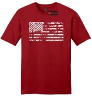 Distressed American Flag Mens Soft T Shirt American Pride USA July 4th Tee Z2