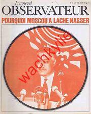 Le nouvel observateur n°135 - 14/06/1967 Nasser Israël Guerre des 6 jours Sartre