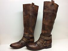 VTG MENS PRIMABASE RIDING LEATHER BROWN BOOTS SIZE 38