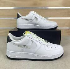 Nike Air Force 1 '07 LV8 Daisy CW5571-100 White Ivory Yellow Shoes Mens Size 8.5