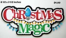 Christmas Magic Title scrapbook premade paper piecing by Rhonda