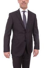 Mens Napoli Black Pinstriped Half Canvassed Tallia Delfino Wool Suit