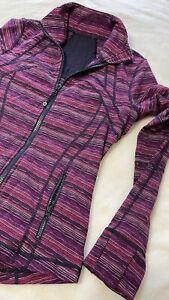 Lululemon Women's Define Jacket Long sleeve 10 Heathered Colors black