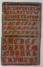 ANTIKES STICKMUSTERTUCH vor 1900 Kreuzstich ca. 23 x 38 cm