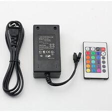 Supernight™ 12v 5a Power Supply Adapter 24 Key IR Remote for RGB Strip Light