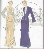 1900s Edwardian Vintage Sewing Pattern TWO-PIECE DRESS B40-42-44 (1025)