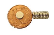 10 Stück Neodym Rundmagnete  5 x 1 mm  Powermagnet zum schalten von Reedkontakt