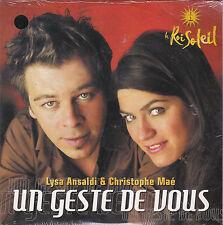 CD CARTONNE CARDSLEEVE CHRISTOPHE MAE/LYSA ANSALDI UN GESTE DE VOUS 3T NEUF