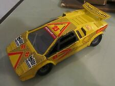 Modellino Polistil Lamborghini Countach Gialla Shell scala 1:25