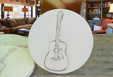 Clay Drink Coasters, GUITAR Absorbent Drink Coasters Set of 4