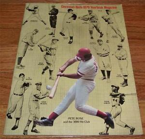 1978 Cincinnati Reds Yearbook Pete Rose 3,000 Hit Club Cover Bench Seaver *JBP1