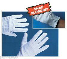 Snap Shut Short White Adult Santa Suit Clown Magician Costume Fancy Dress Gloves