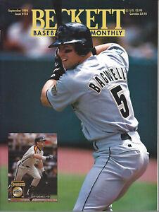 Beckett Baseball Card Monthly Jeff Bagwell Kirby Puckett September 1994