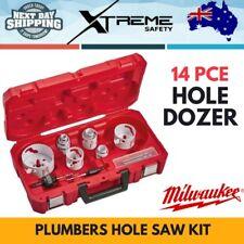 New Milwaukee 14 PCE Hole Dozer Plumbers Hole Saw Kit