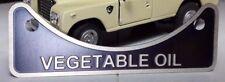 LAND Rover Serie Defender Bio Diesel Olio Vegetale DEL BOCCHETTONE Distintivo di avvertimento