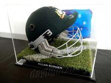 ✺Signed✺ ALLAN BORDER Replica Cricket Helmet PROOF COA Australia 2018 Shirt