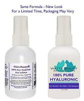 Watts Beauty Wrinkle Serum 100% Hyaluronic Acid Plump & Hydrate 2 oz Pump