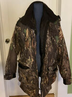 Rutwear Waterfowl Insulated Outer/Inner Jacket. Mossy Oak Breakup. Pre Owned/Med