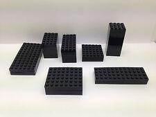 LEGO - 10 PEZZI PER ORDINE SOLO - Nero piastre di base in diverse misure